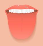 De tong van de vrouw royalty-vrije illustratie