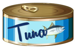 De tonijn in aluminium kan vector illustratie