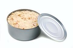 De tonijn kan Stock Foto