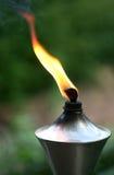 De toorts van lit met oranje vlam Stock Afbeelding