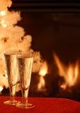 De Toost van Champagne stock foto's