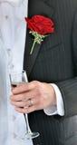 De Toost van de bruidegom Royalty-vrije Stock Foto's