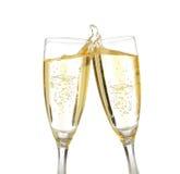 De toost van de viering met champagne Royalty-vrije Stock Fotografie
