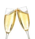 De toost van de viering met champagne Stock Foto