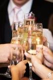 De toost van de wijn Royalty-vrije Stock Foto's