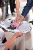 De toost van het huwelijk Stock Fotografie