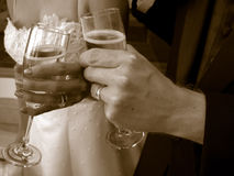 De toost van het huwelijk Stock Foto