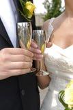 De toost van het huwelijk Stock Foto's