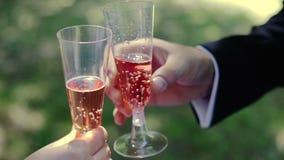 De Toost van het huwelijkspaar stock videobeelden