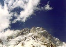 De top van de berg stock afbeeldingen