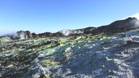 De top van Etna stock footage