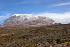 De top van Kilimanjaro Royalty-vrije Stock Foto