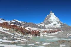 De top van Matterhorn Stock Foto's