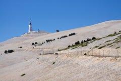 De top van Mont Ventoux, Frankrijk Stock Fotografie