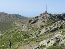 De top van Punta-La Marmora - het Nationale Park van Gennargentu royalty-vrije stock foto