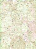 De topografische Achtergrond van de Kaart Stock Fotografie