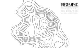 De topografische achtergrond van de kaartcontour Topokaart met verhoging Stock Afbeelding