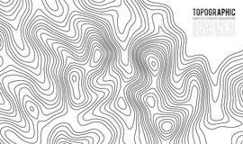 De topografische achtergrond van de kaartcontour Topokaart met verhoging Royalty-vrije Stock Foto
