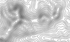 De topografische achtergrond van de kaartcontour Topokaart met verhoging stock illustratie