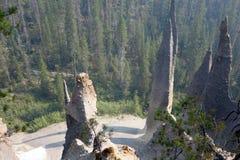 De Toppen bij Kratermeer Stock Afbeelding