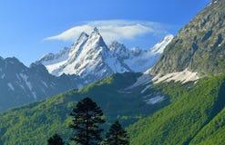 De toppen van de Kaukasus Stock Fotografie