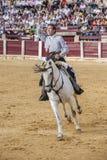 De toréador bullfightin espagnol de Leonardo Hernandez à cheval Image stock