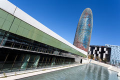 De toren en de vijver van Agbar Royalty-vrije Stock Foto's