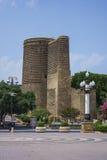 De Toren Baku, Azerbeidzjan van het de Unesco-twaalfde eeuwmeisje Royalty-vrije Stock Afbeeldingen