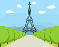 De Toren Beroemd Oriëntatiepunt van beeldverhaaleiffel van Parijs Vector vector illustratie