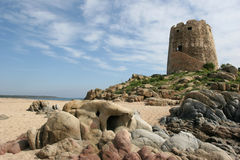 De toren bij ziet Stock Afbeelding
