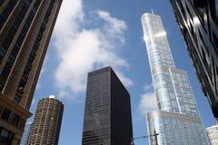 DE TOREN CHICAGO VAN DE TROEF Stock Afbeeldingen