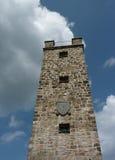 De toren, construeerde het jaar van 1922, stad Wunsiedel Stock Afbeelding