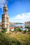 De toren de haven Stock Afbeelding