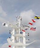 De Toren en de Vlaggen van schepen Royalty-vrije Stock Foto's