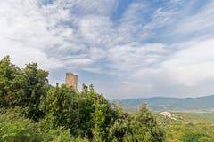 De toren in het bos Stock Afbeeldingen