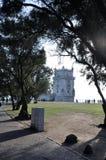 De Toren het Portugees van Belem stock afbeeldingen