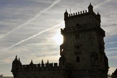 De Toren het Portugees van Belem stock foto's