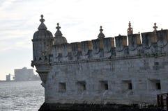 De Toren het Portugees van Belem stock fotografie