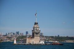 De Toren Istanboel Turkije van het meisje Royalty-vrije Stock Afbeelding