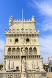 De Toren Lissabon van Belem stock afbeelding