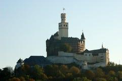 De Toren Marksburg, Duitsland van het kasteel stock afbeeldingen