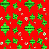 De Toren Naadloos Patroon van Kerstmiseiffel royalty-vrije illustratie