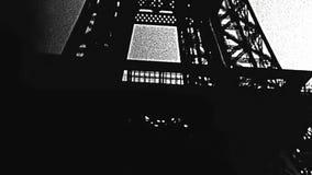 De toren Parijs van Eiffel stock footage