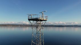 De toren puget correct Washington de V.S. van het radarweerstation stock videobeelden