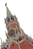 De toren Spasskaya (van de Verlosser), Moskou, Rusland Stock Foto's