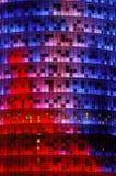De toren van Agbar, Barcelona Stock Foto's