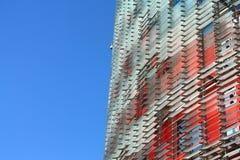 De Toren van Agbar (Torre Agbar in het Spaans) Stock Foto's