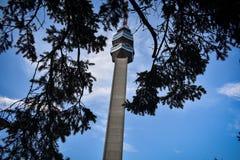 De toren van Avala servië Belgrado stock afbeelding