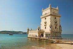 De toren van Belem in Lissabon stock foto