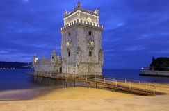 De Toren van Belem - Lissabon Stock Foto's